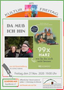 Verschoben – Kultur am Freitag: Buchlesung mit Miriam Fuchs über unbekannte Reiseziele im Harz